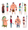 native american tribe members in traditional vector image vector image