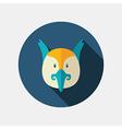 Pheasant flat icon Animal head vector image vector image