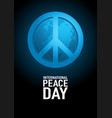 poster design for international day peace vector image vector image