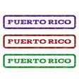 puerto rico watermark stamp vector image
