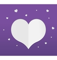 Purple heart paper sticker vector image vector image
