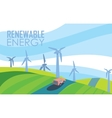 Renewable energy banner Wind power generation vector image