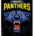 retro panther mascot design vector image vector image