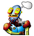 robot needs recharging vector image