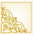 Russian traditional carving ornament vector image vector image