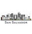 san salvador city skyline with gray buildings vector image vector image