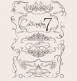 set calligraphic design elements and page decorati vector image