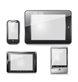 set of electronic devices tablet and mobile phone vector image