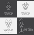 set of grapes logo vector image