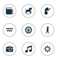 set of simple child icons vector image vector image