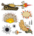 Set of tanks vector image vector image