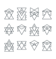 Set of trendy geometric icons Geometric hipster vector image vector image