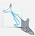 shark sketch vector image