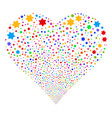 six pointed star fireworks heart vector image vector image