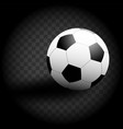 soccer ball icon isolate on black background vector image