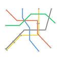 subway omnichannel metro map omni channel tube vector image
