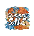 Summer Sale Poster design template Elements are vector image vector image