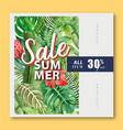 summer social media advertising holiday on sale vector image vector image