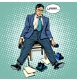 Tired businessman working stress vector image vector image