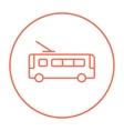 Trolleybus line icon vector image vector image