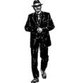 vintage gangster vector image vector image