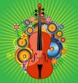 violin flower vector image