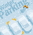Winter Parking vector image vector image