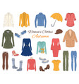 women s clothes collection vector image