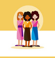 womens friends cartoons vector image