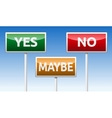 Yes No Maybe vector image