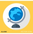 Globe flat color icon vector image