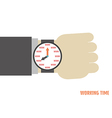 91working time vector image