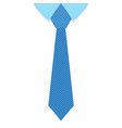 a striped blue tie vector image