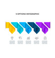 abstract infographics number options template with vector image vector image