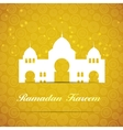 Background for Muslim Community Festival vector image vector image