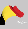 background with belgium wavy flag vector image vector image