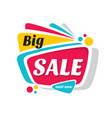 big sale discount - creative banner vector image vector image