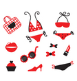 bikini icons vector image vector image