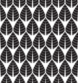 Black and white Seamless leaf pattern vector image vector image