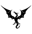 black dragon sign vector image