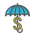 business insurance colorful line icon umbrella vector image vector image
