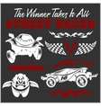 Car racing badges and elements Graphic design for vector image vector image
