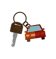 car shaped key chain icon vector image vector image