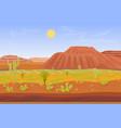 cartoon prairie desert grand canyon landscape vector image vector image