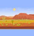 Cartoon prairie desert Grand canyon landscape with vector image