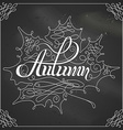 Chalk Autumn Calligraphy vector image vector image