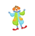 Colorful Friendly Clown In Bowler Hat In Classic vector image vector image