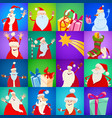 decorative christmas holiday pattern cartoon vector image vector image