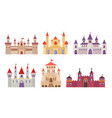 fairytale castles medieval buildings fortress vector image vector image
