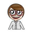 female nerd avatar character vector image vector image